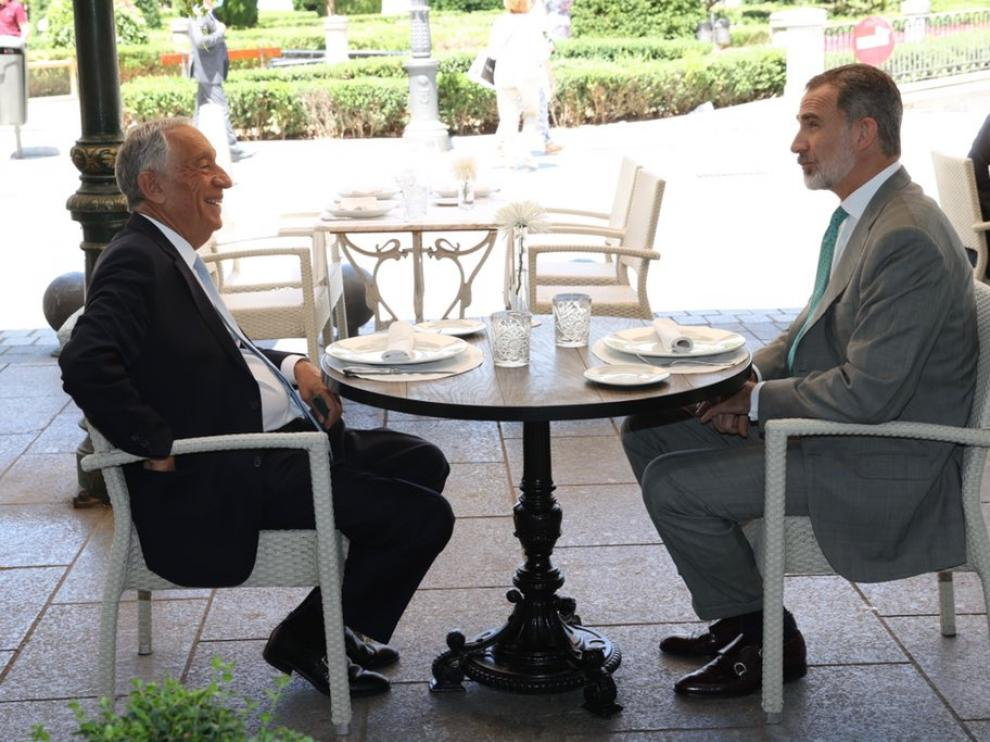 Felipe VI y el presidente de Portugal