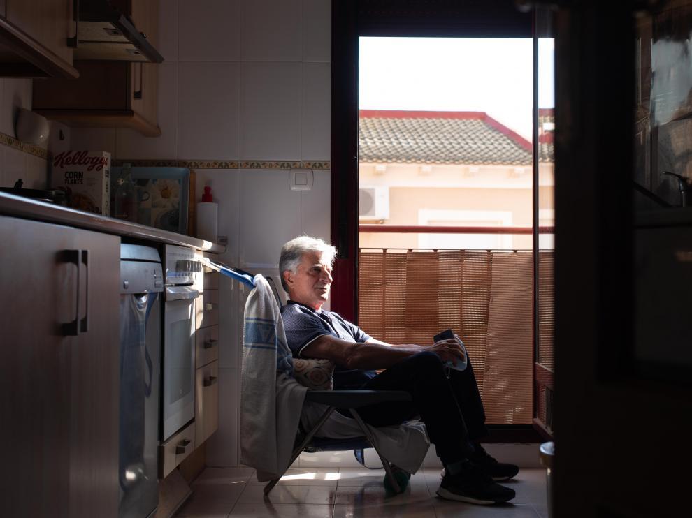El balcón de la cocina fue un buen lugar para tomar el sol y jugar al bingo con los vecinos.