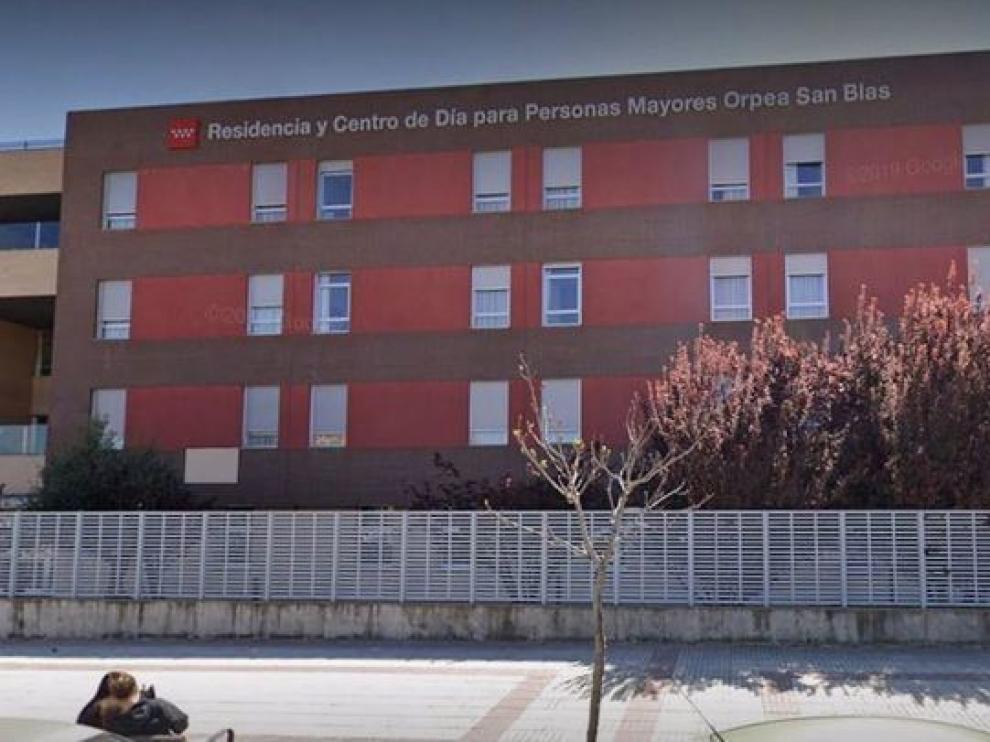 Residencia de mayores Orpea San Blas, en Madrid, donde se ha detectado un brote de coronavirus en mayores vacunados.