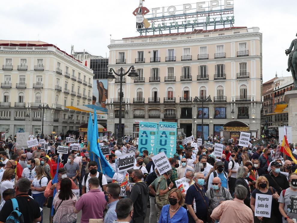 Guardias civiles de todo el país se manifiestan en Madrid por sus derechos