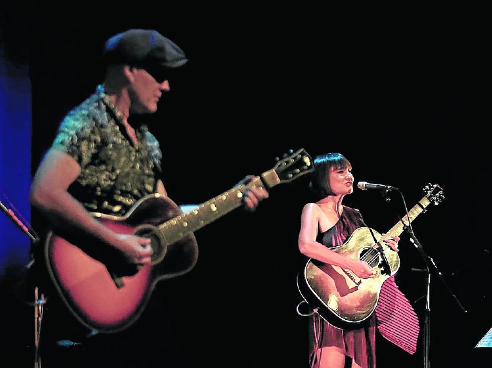 Amaral, en el concierto que dieron en Huesca en 2020