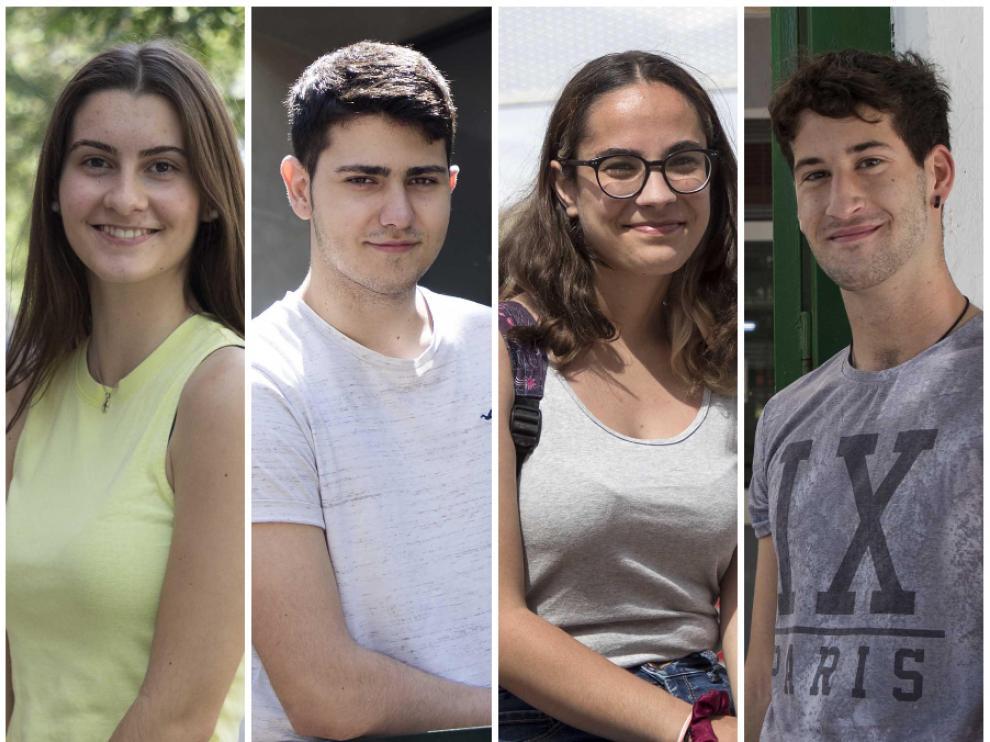 Carolina Martín, Adrián García, Yaiza Sánchez y Bruno Guallar.