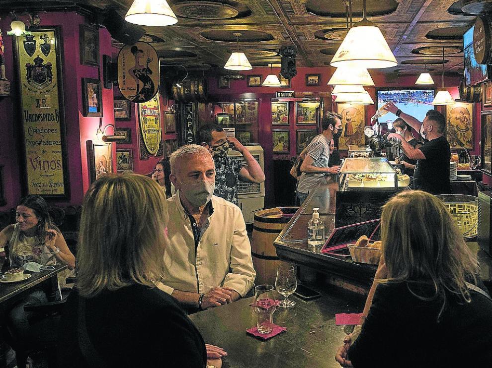 El bar La Pilara, de la calle Cuatro de Agosto, ayer por la noche