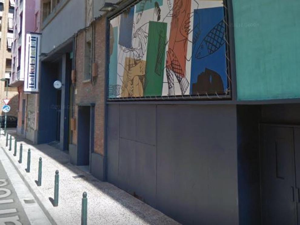 Fachada del Teatro de la Estación, en Zaragoza.