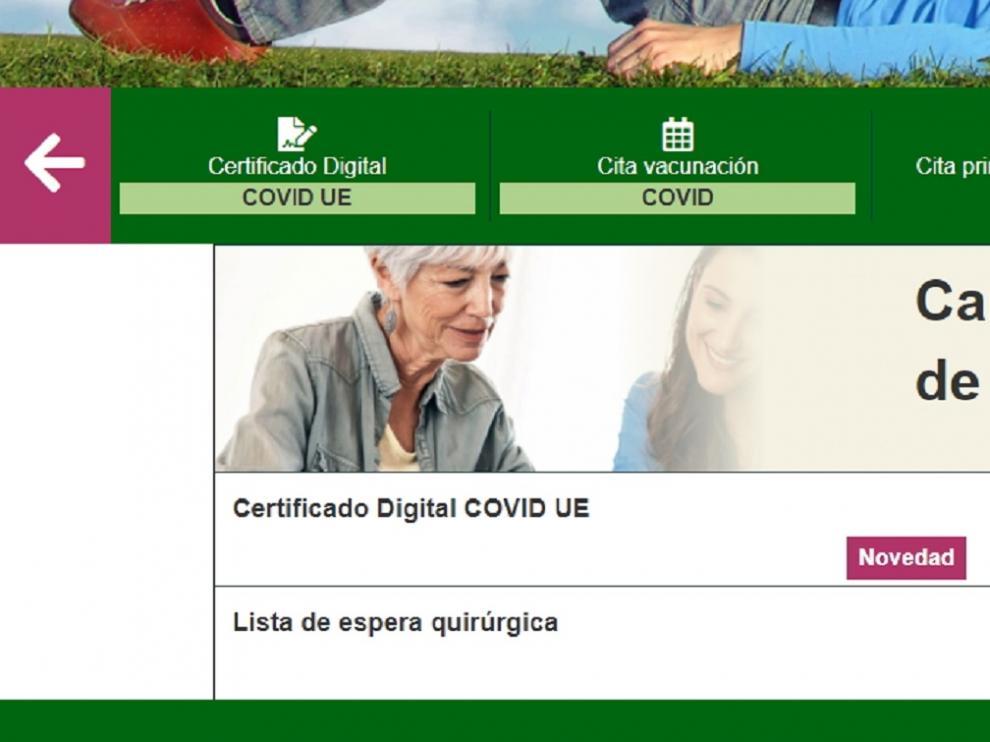 Cómo descargar el Certificado Covid Digital en Aragón. gsc