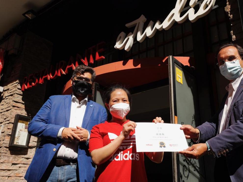 El bar Estudio de Zaragoza, ganador del concurso en redes chinas
