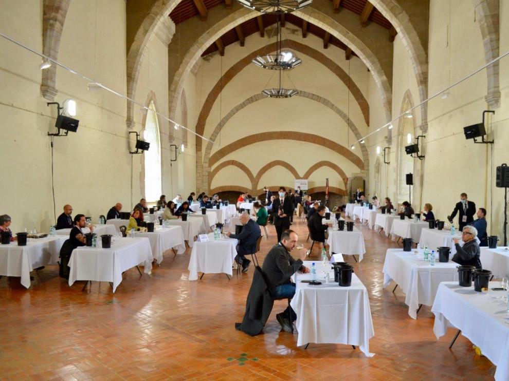 Una de las cuatro catas del Concurso Garnachas del Mundo de este año, la que tuvo lugar en Perpiñán.