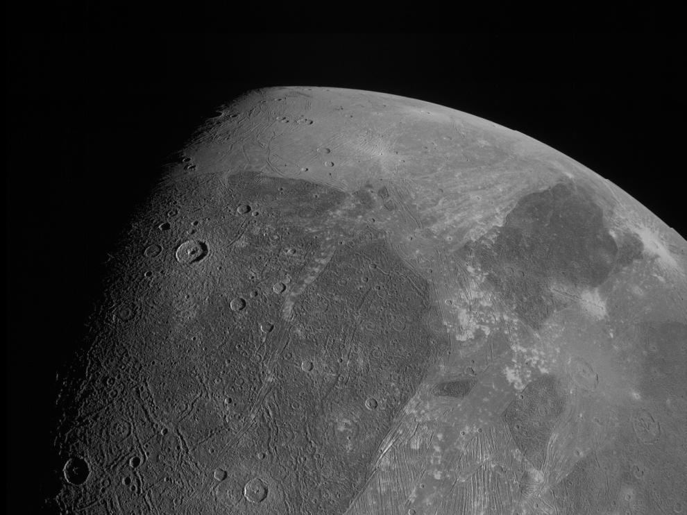 Imagen de Ganímedes publicada por la NASA