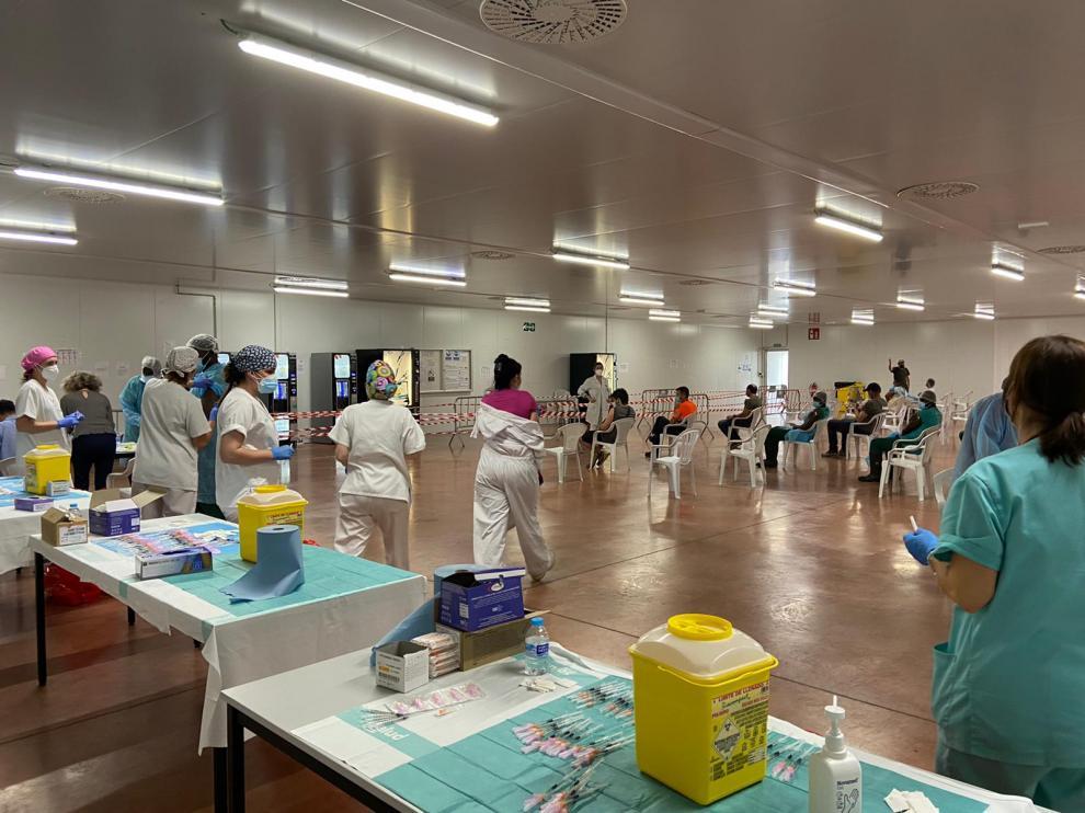 Vacunación de trabajadores en los mataderos de La Litera