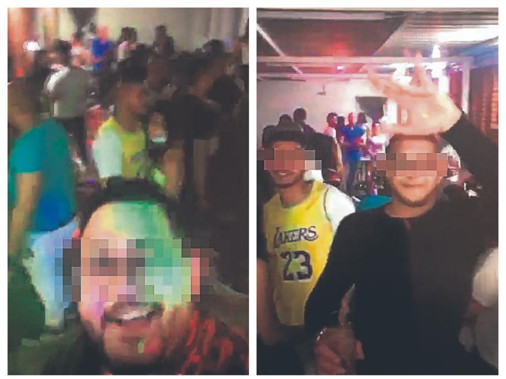 Algunas de las imágenes que aparecen en el vídeo de la fiesta
