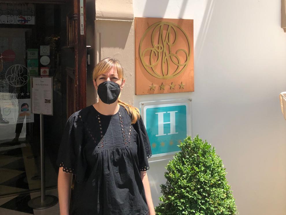 Almudena Anadón es la directora del Hotel-Spa San Ramón de Barbastro.