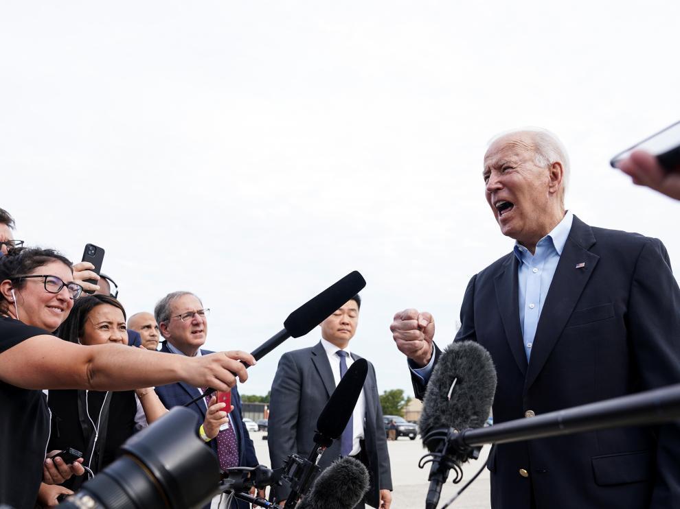 Biden, antes de subir al avión rumbo a Europa