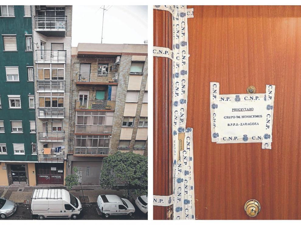 El homicida saltó desde el balcón de su vivienda tras el crimen.