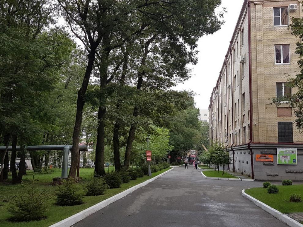 Imagen del hospital que ha sido víctima de un incendio en Rusia.