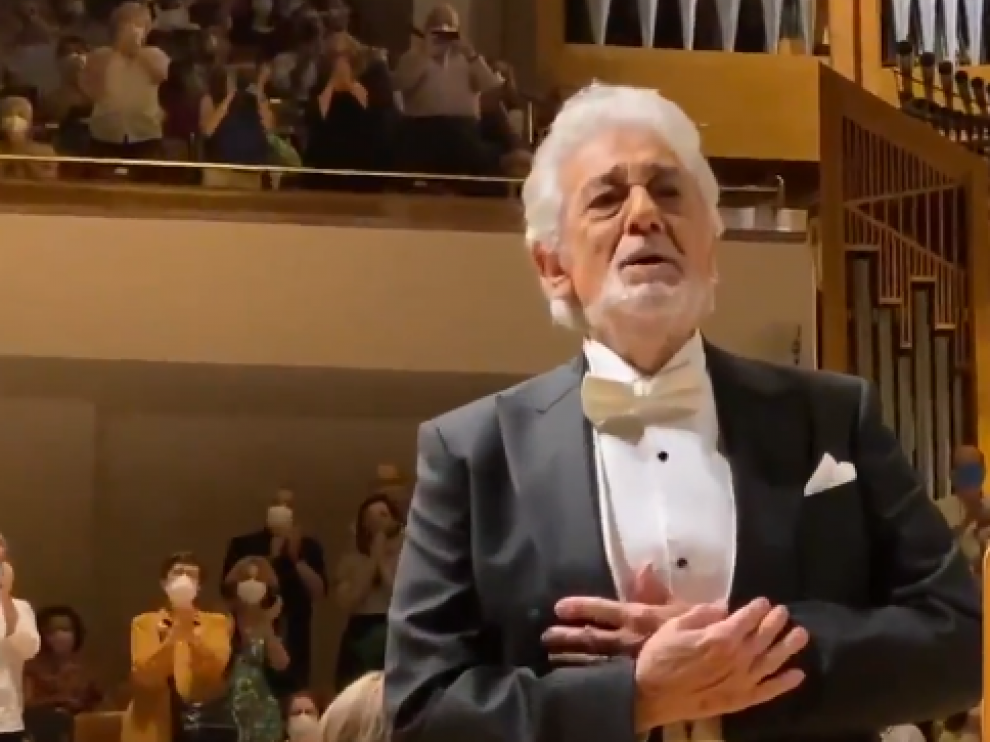 Plácido Domingo, emocionado en el Auditorio Nacional