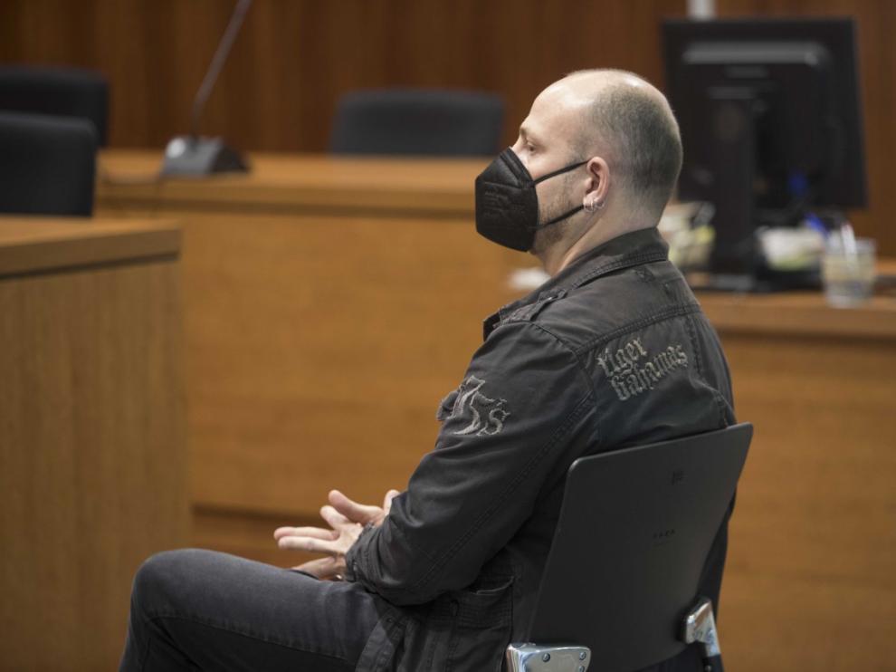 El acusado en el juicio celebrado en la Audiencia de Zaragoza.