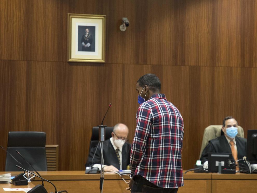 El acusado, Wilson de la Cruz, durante la lectura del veredicto.