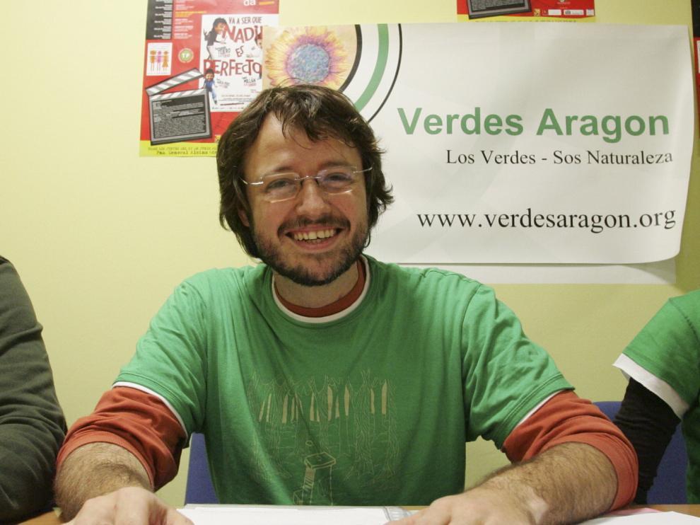 El coordinador de Verdes Equo en Aragón, Lorenzo Mele, en una imagen de archivo