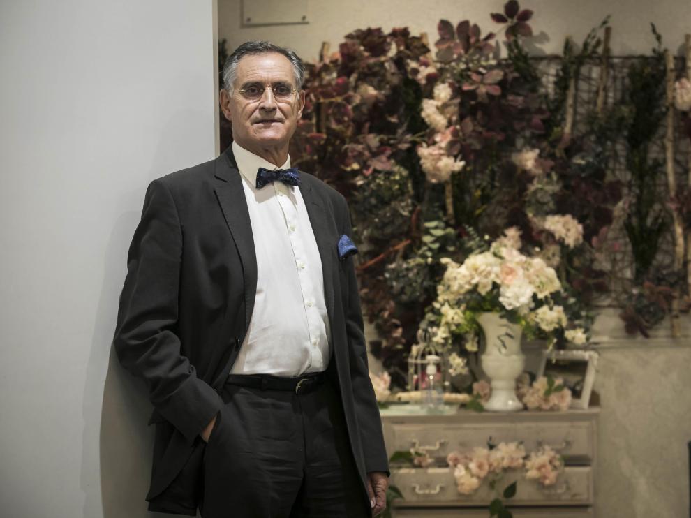 Manuel Millán, ayer antes de ser distinguido por la Real Academia de Medicina de Zaragoza.