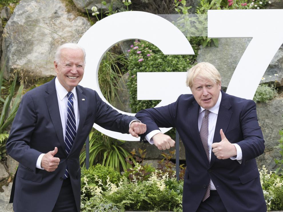 Biden y Johnson en Cornualles.