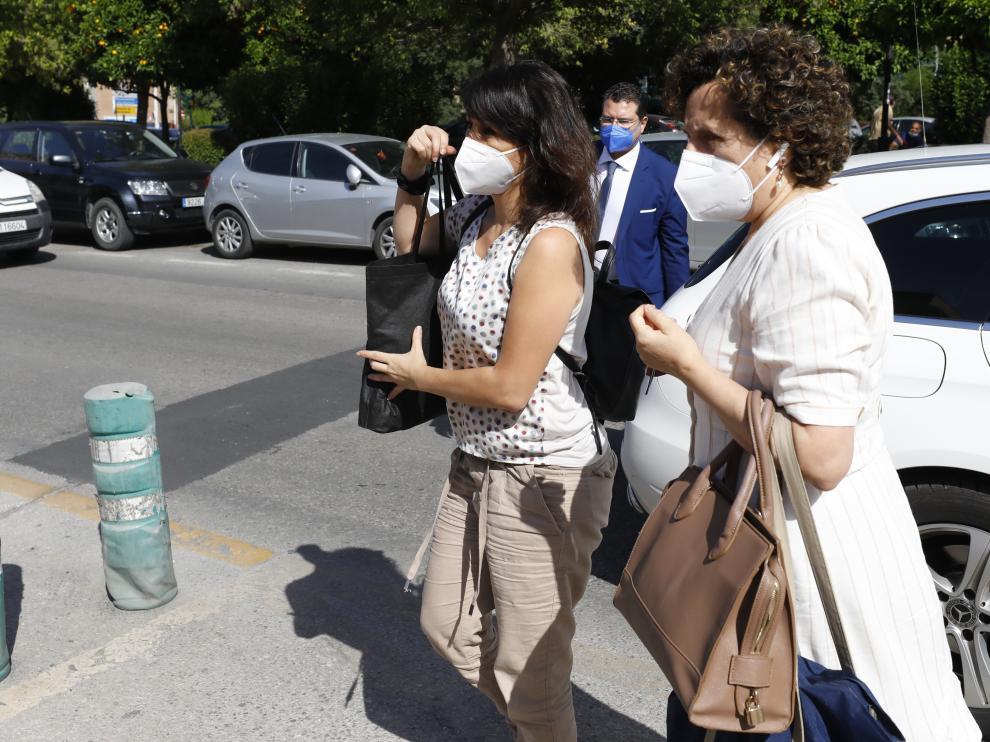 Juana Rivas a su llegada al centro de inserción donde cumplirá condena