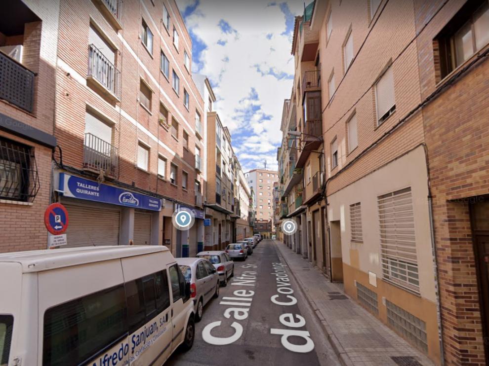 Una imagen de la calle de Covadonga, en el barrio de Las Delicias.
