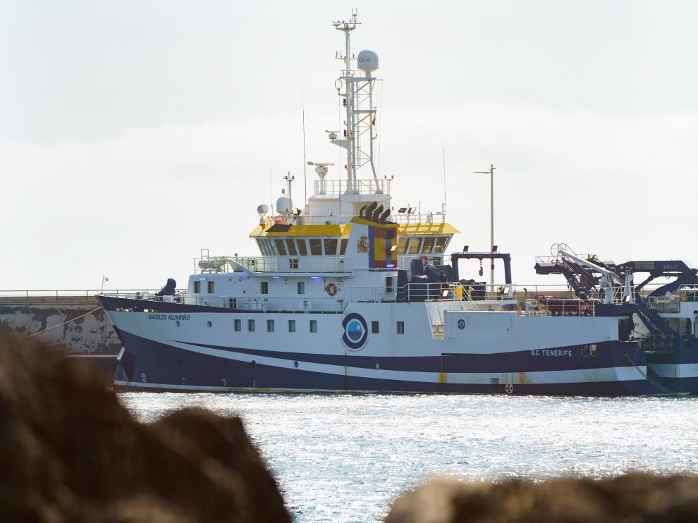 El buque oceanográfico Ángeles Alvariño regresa al Puerto de Santa Cruz de Tenerife por cuestiones técnicas este sábado