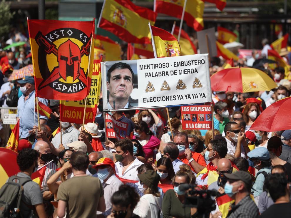 Concentración en Madrid contra los indultos a los condenados por el procés