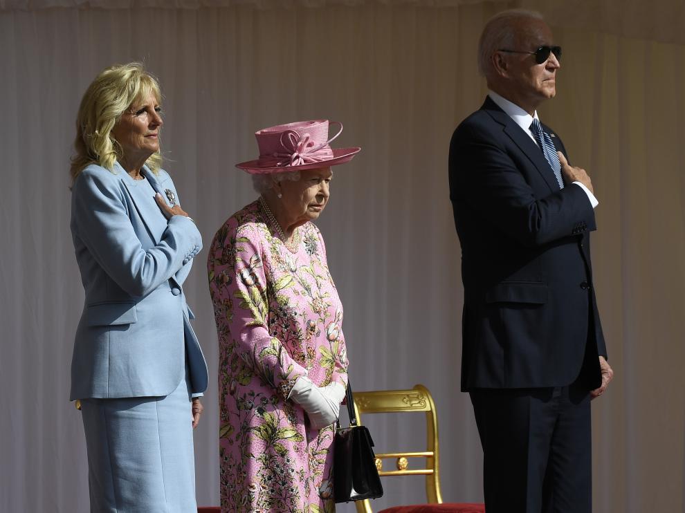 Isabel II recibe a los Biden en Windsor