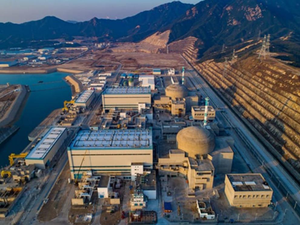 Central nuclear de Taishan (China).