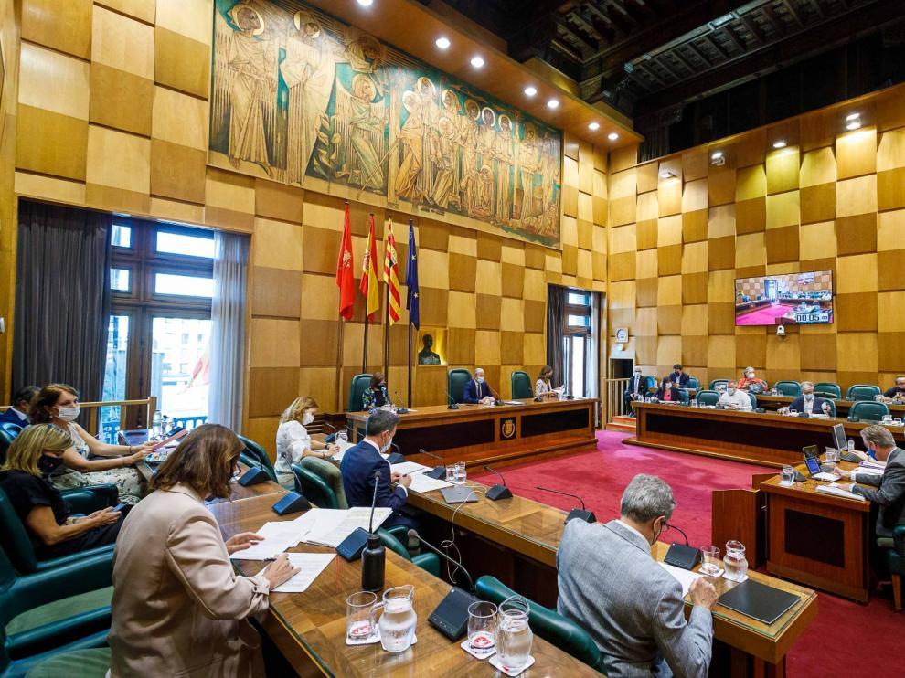 Pleno este lunes en el Ayuntamiento de Zaragoza
