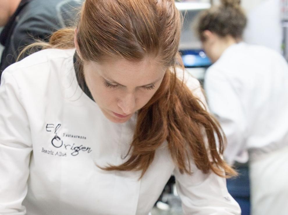 Beatriz Allué, dueña y chef del restaurante oscense El Origen y ganadora del Premio al Cocinero más Innovador.