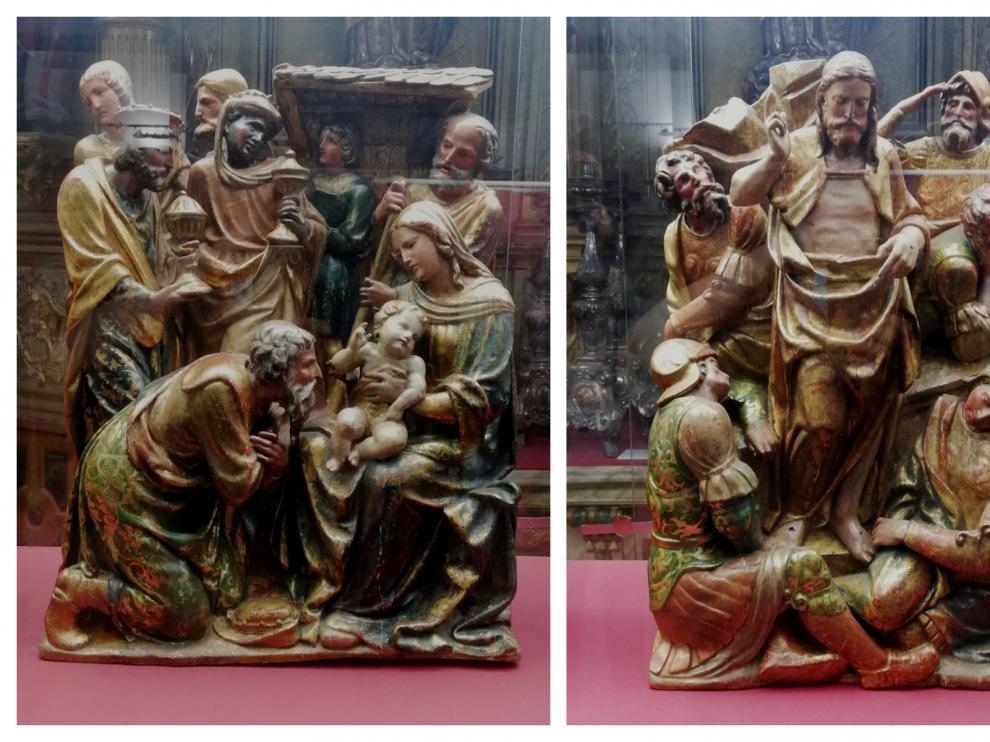 'La adoración de los Magos' y 'La resurrección'