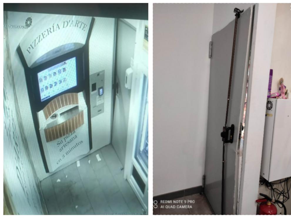 El ladrón rompió a patadas la puerta del obrador, ubicado en el número 44 de la calle Manifestación de Zaragoza.