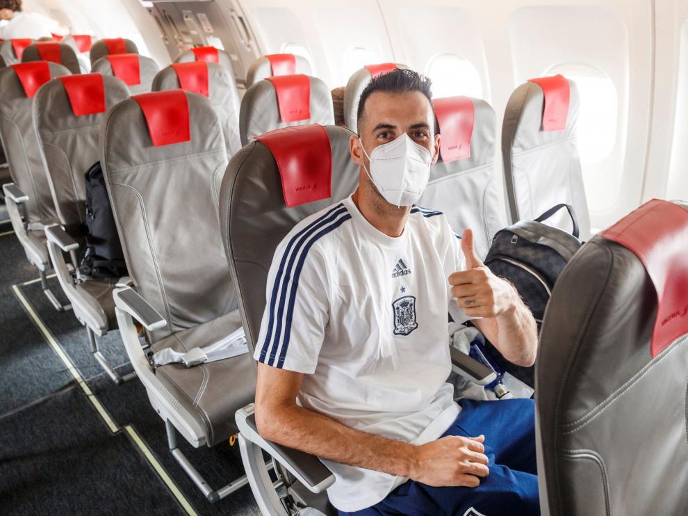La selección español viaja a Sevilla antes de medirse a Polonia