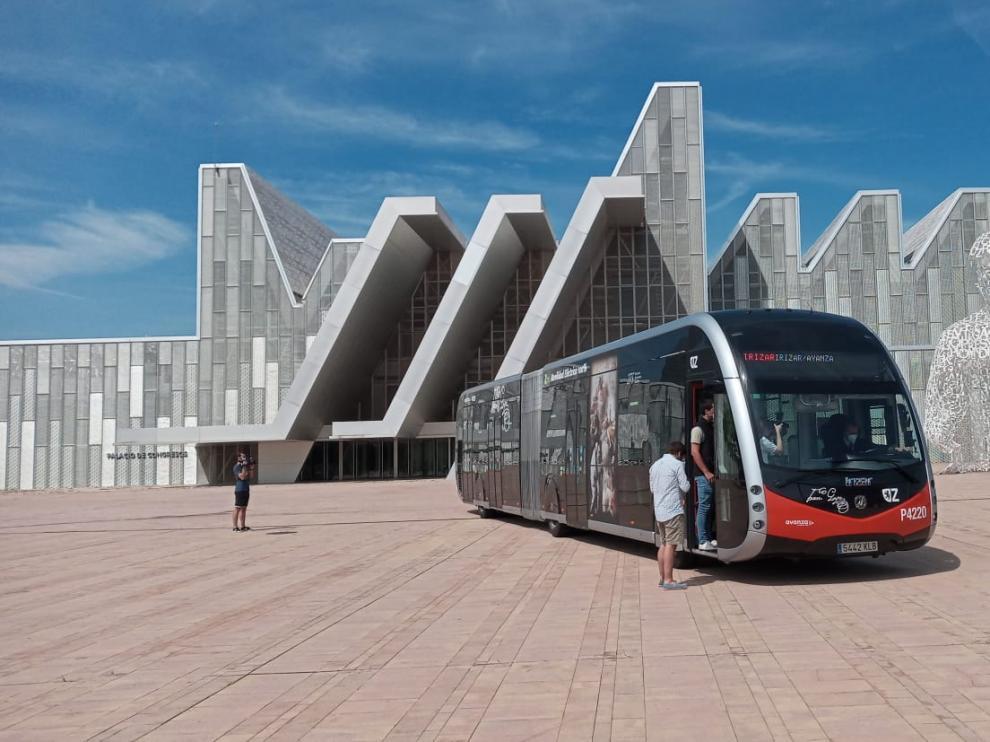 Nuevo tranvía con ruedas en Zaragoza