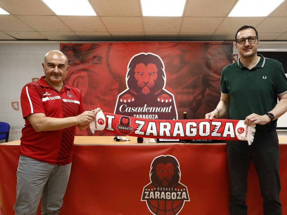 Presentación de Ponsarnau con el Casademont Zaragoza.