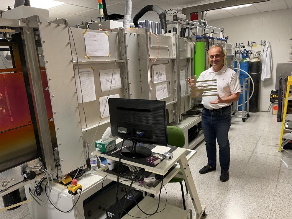 Rafael Alonso, en las instalaciones habilitadas para el desarrollo de la cátedra Ariño Duglass.