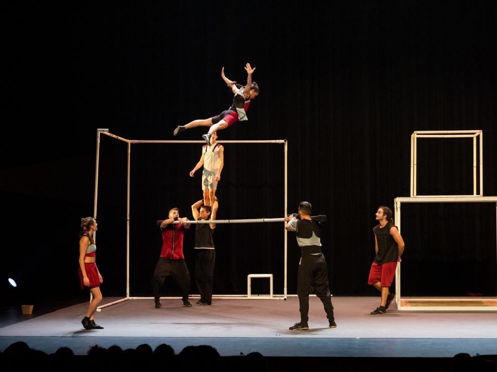 Espectáculo de la compañía Up Arte que podrá verse en el festival de Monzón.