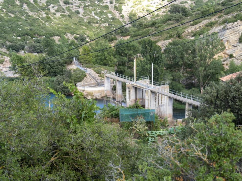 Presa de los Toranes, en el río Mijares a su paso por Albentosa.