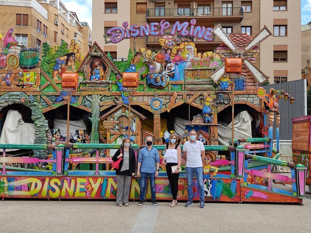 Presentación de la iniciativa de ferias inclusivas de Huesca, que están ubicadas en la plaza de San Antonio.