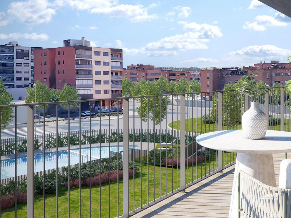 Todas las viviendas de la promoción Bayeu cuentan con terraza.