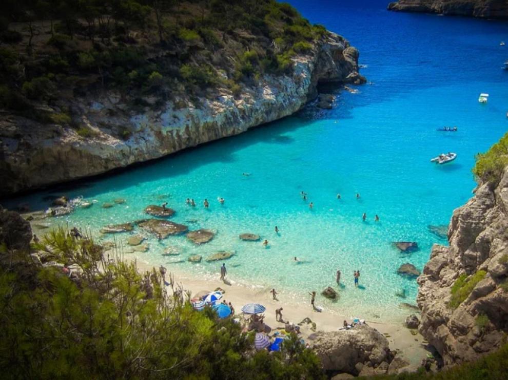 Foto de archivo de una playa de Mallorca