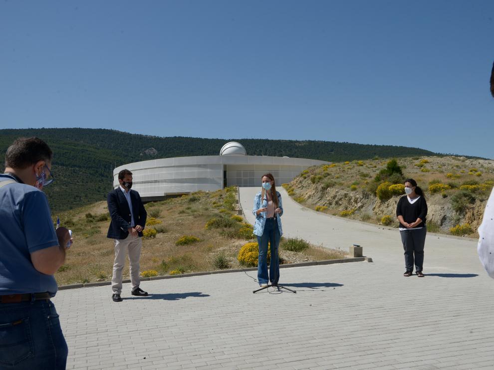 La consejera Maru Díaz, en el patronato de Galáctica de Arcos de las Salinas.