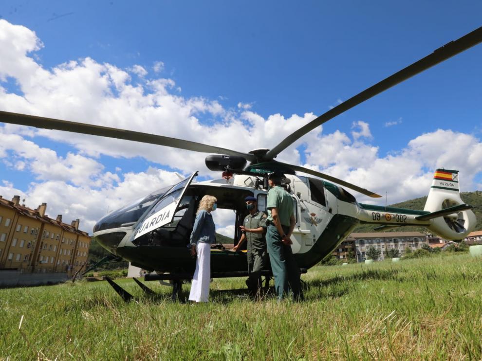 Operativo de rescate de la Guardia Civil en el Pirineo