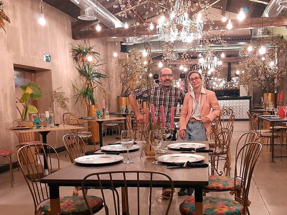 Yolanda Gimeno y Francisco Arazuri abrieron el Espacio Gastronómico Entreviñedos en octubre de 2019.