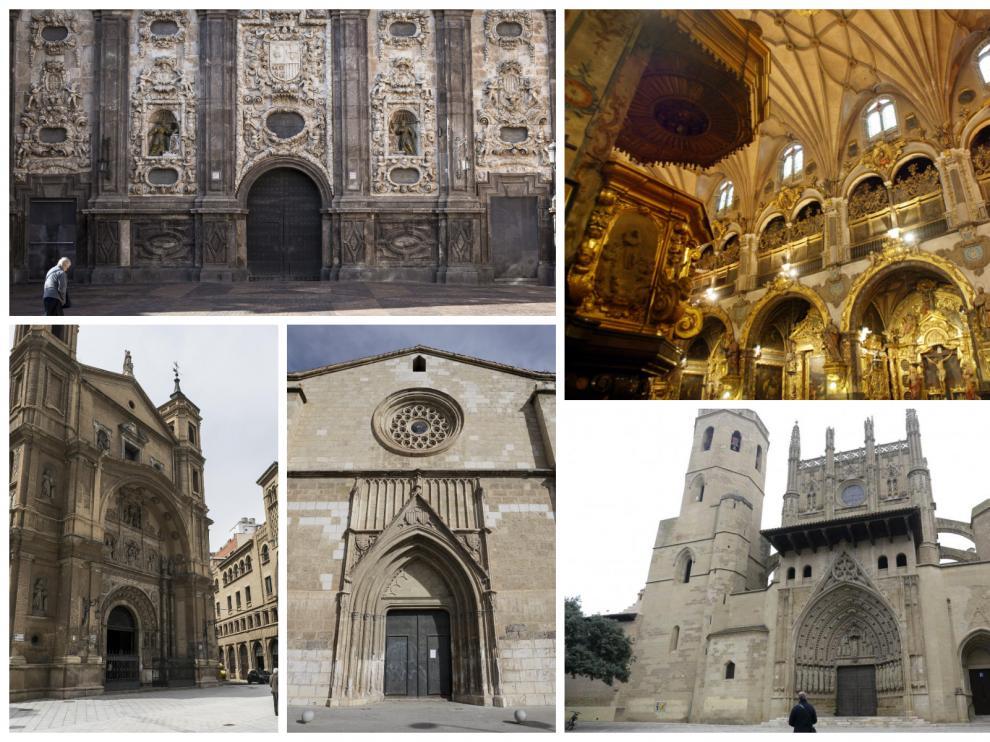 Iglesias de Zaragoza, Huesca y Teruel.