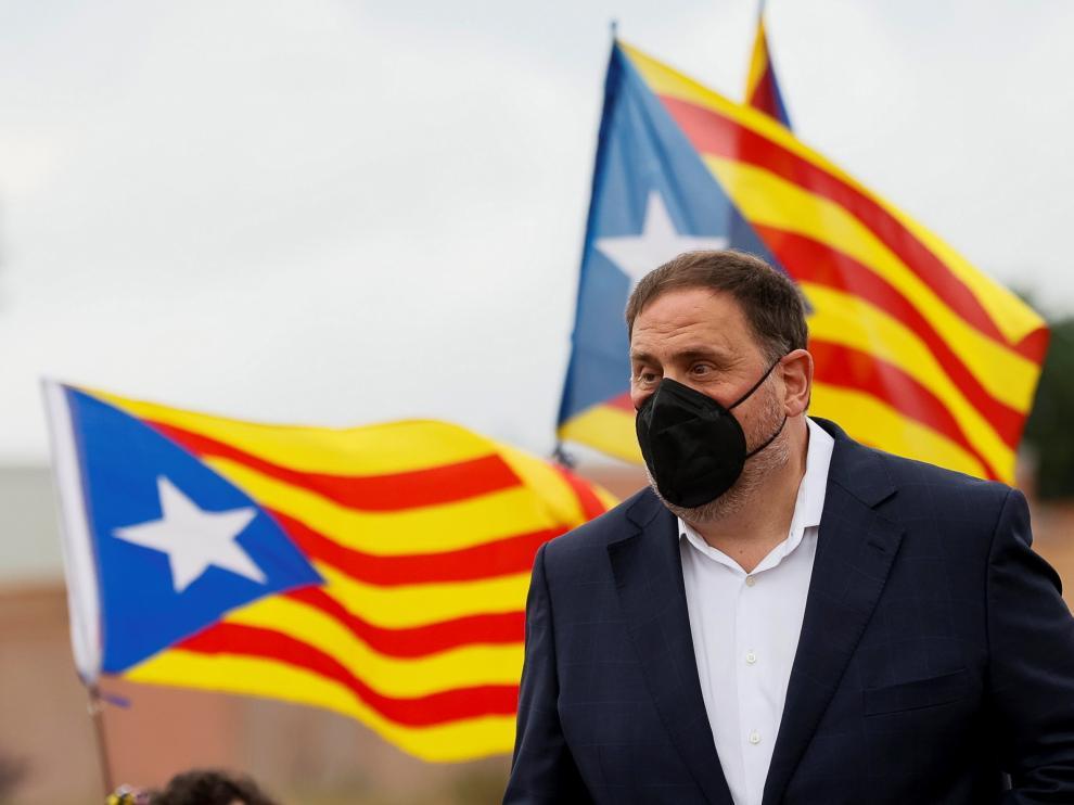 Oriol Junqueras tras salir de prisión