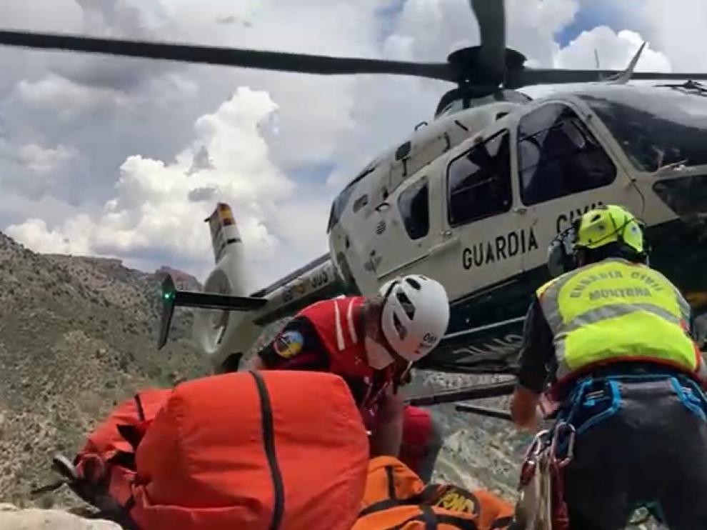 Rescatan el cuerpo sin vida de un senderista entre Montoro de Mezquita y el mirador de Miravete, en Teruel.