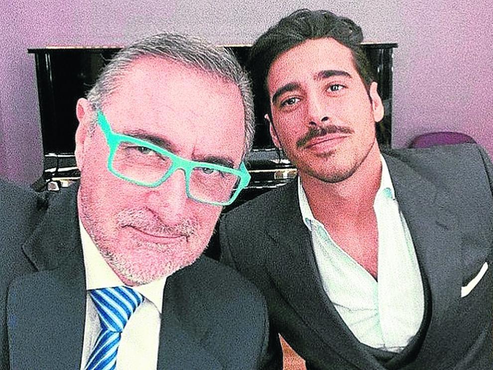 Carlos y Alberto Herrera, padre e hijo.